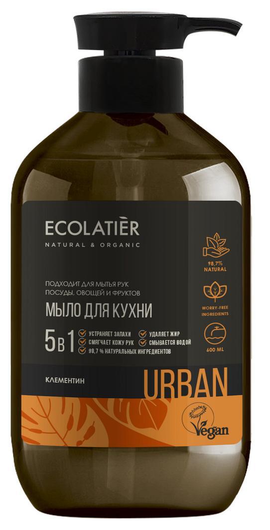 Жидкое мыло для рук КЛЕМЕНТИН кухонное, 600 мл, Ecolatier фото