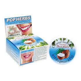 Растительная зубная паста с кокосом (в банке), 40 гр, by POP popular фото
