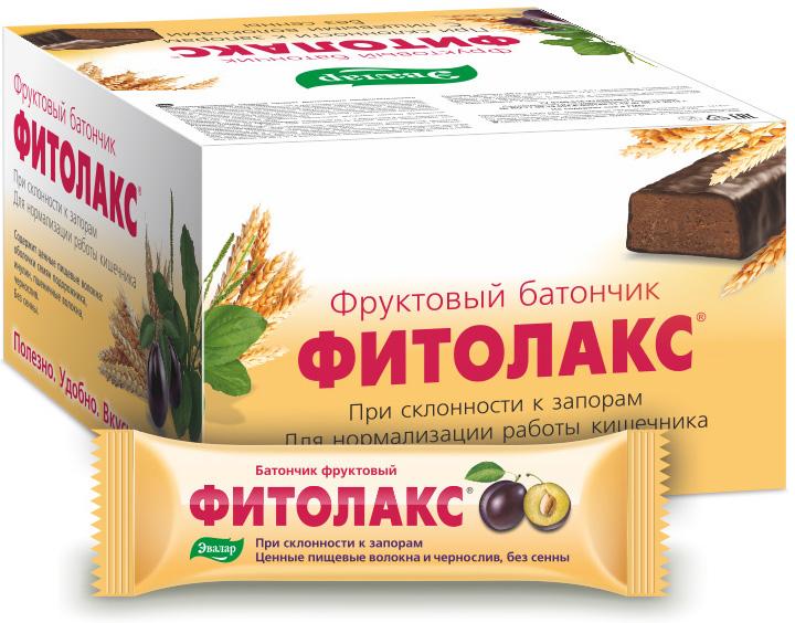 Фруктовый батончик «Фитолакс», 12 шт по 50 гр, Эвалар фото