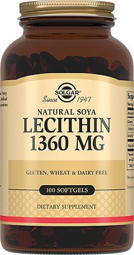 Натуральный соевый лецитин, 100 капсул, Solgar