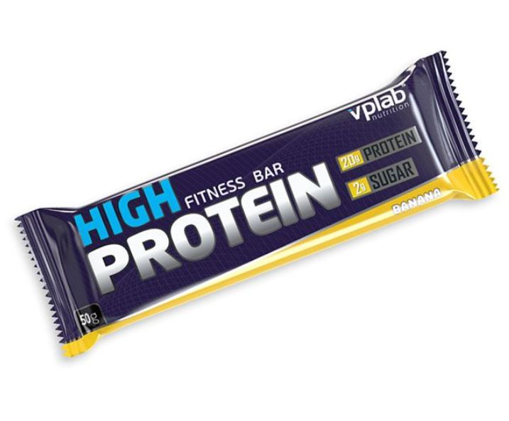 Протеиновый батончик 40% High Protein, вкус «Банан», 50 гр, VPLab фото