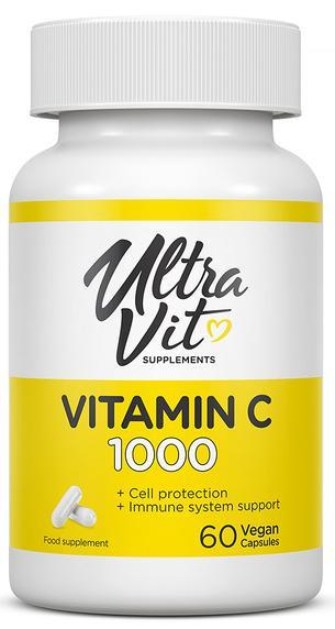 Vitamin C, 60 капсул, UltraVit фото