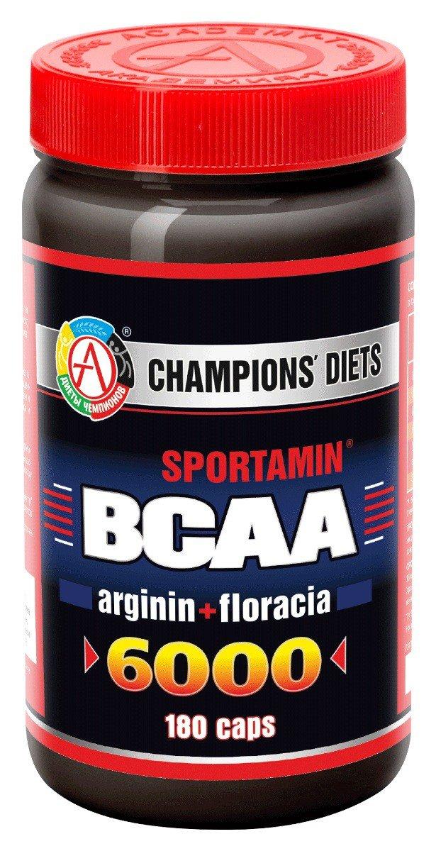 Аминокислотный комплекс BCAA 6000 СПОРТАМИН, 180 капсул,