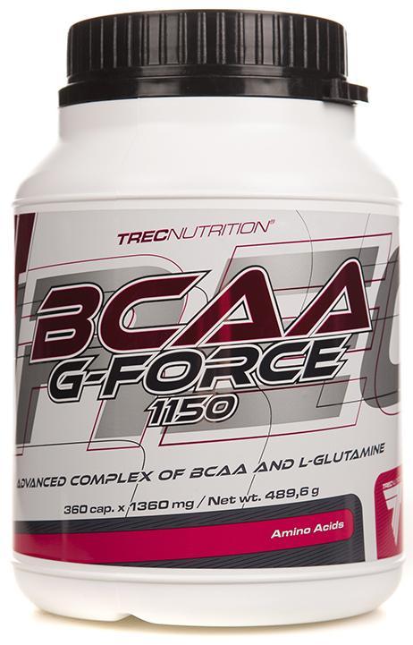 BCAA G-force, 360 капсул, ec Nutrition фото