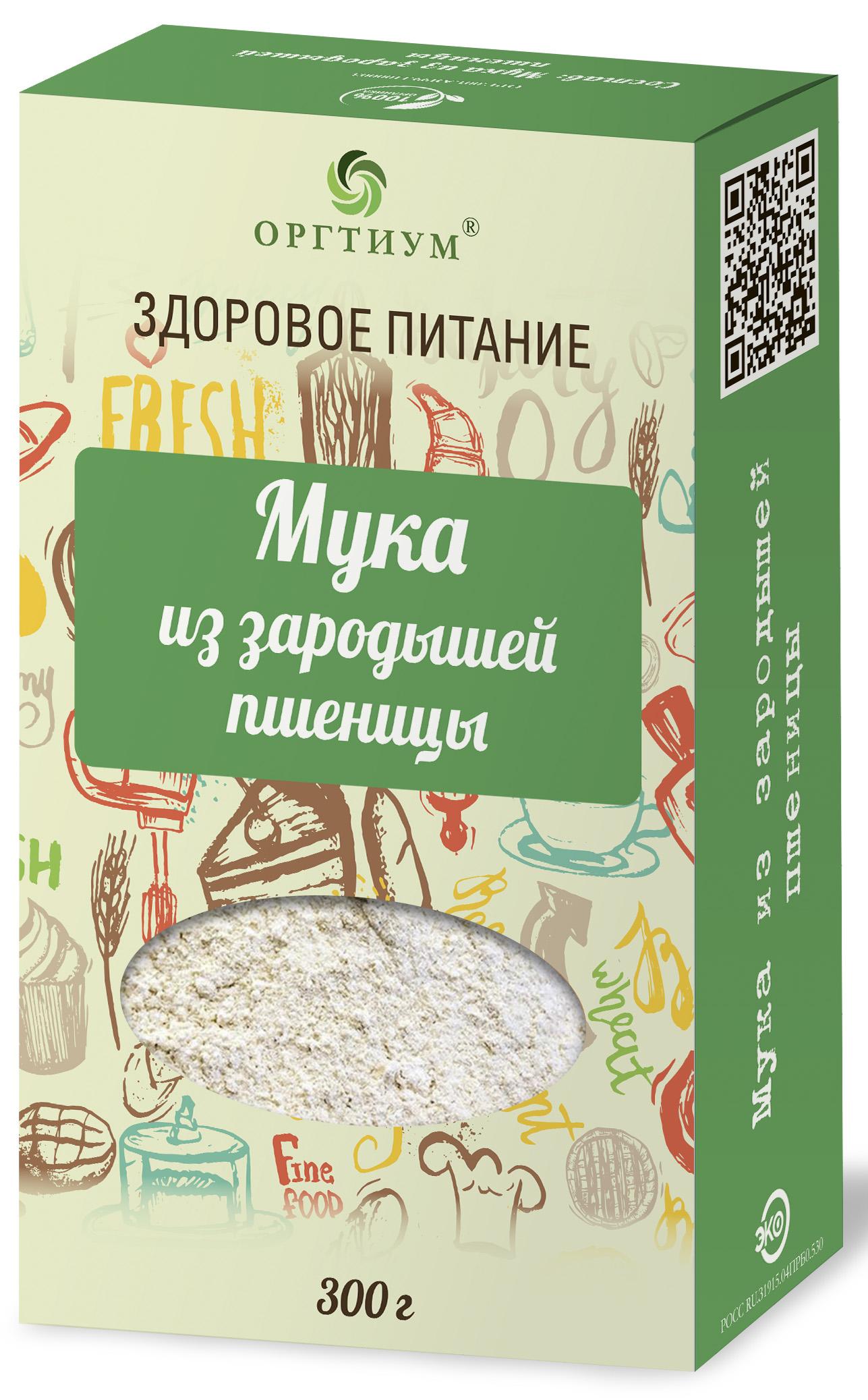 Мука экологическая зародышей пшеницы, 300 гр, Оргтиум фото