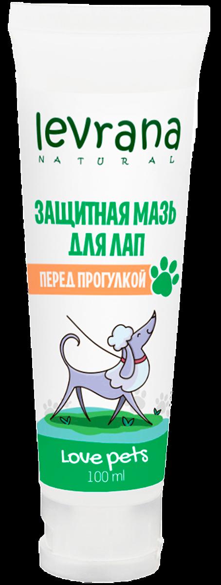 Защитная мазь для лап перед прогулкой, Love pets, 100 мл, Levrana фото
