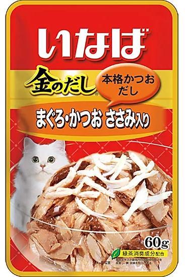 Микс из тихоокеанского тунца, парного филе курицы и японского тунца-бонито, 60 гр, Japan Premium Pet фото