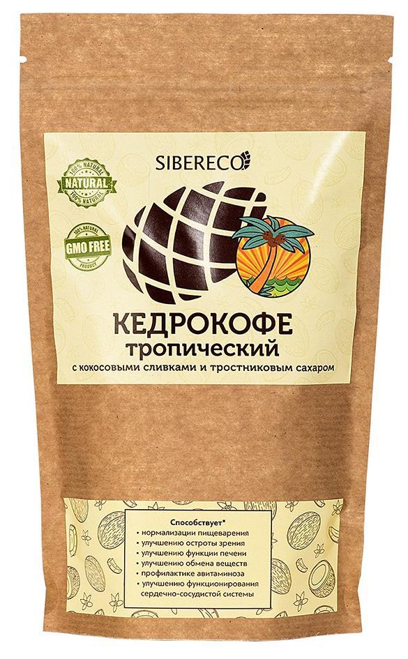 Кедрокофе Тропический с кокосовыми сливками и тростниковым сахаром 250г, СИБЕРЕКО фото