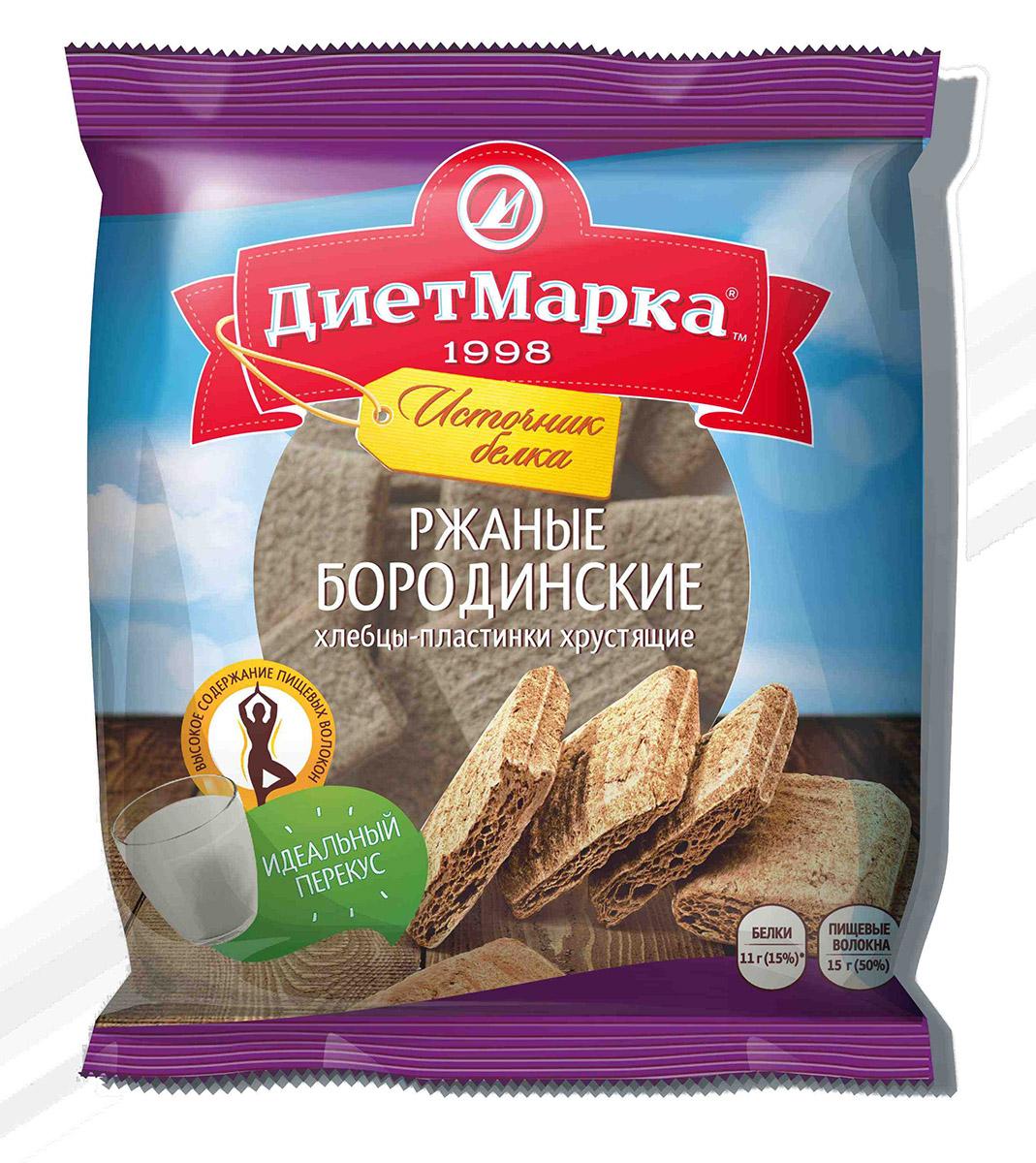 МИНИ Хлебцы-пластинки хрустящие, ржаные БОРОДИНСКИЕ, 75 гр, ДиетМарка фото