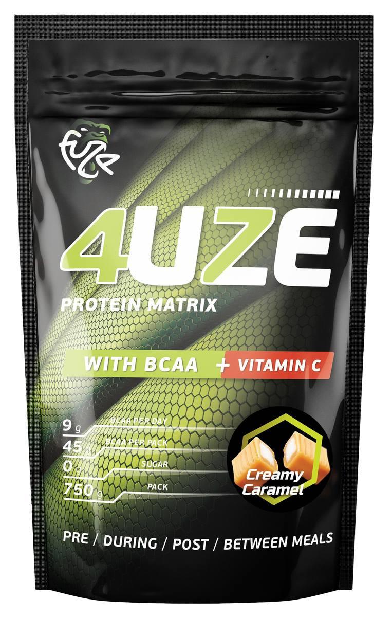 Мультикомпонентный протеин Фьюз 47% + BCAA , вкус «Сливочная карамель», 750 гр, 4UZE фото