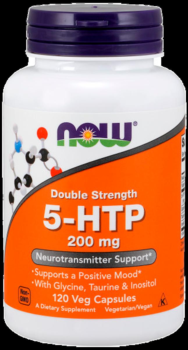 5-НТР (L-5-гидрокситриптофан), 200 мг, 120 капсул, NOW