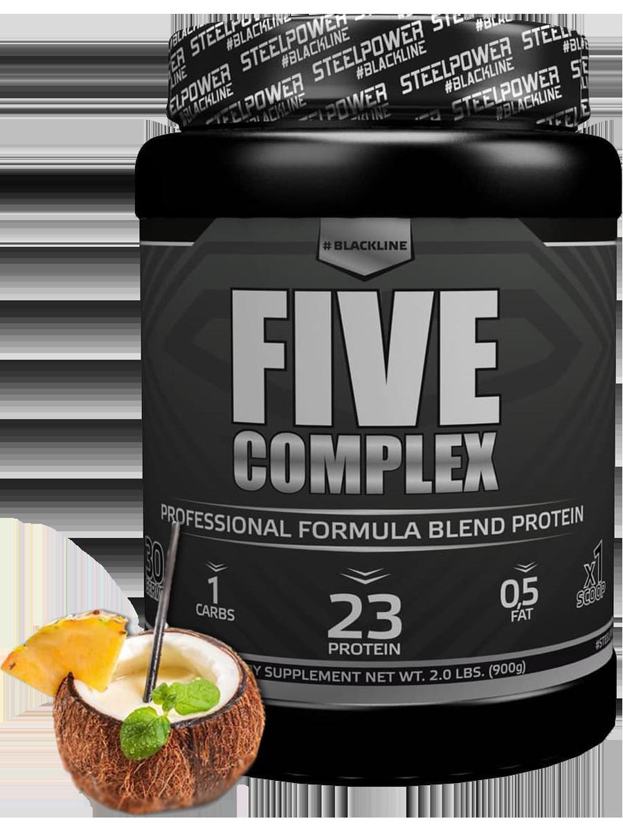Многокомпонентный протеин FIVE COMPLEX, вкус «Пина Колада», 900 гр, STEELPOWER фото
