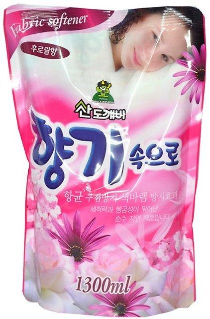 Кондиционер для белья Soft Aroma «Цветочный», 1300 мл, Sandokkaebi фото