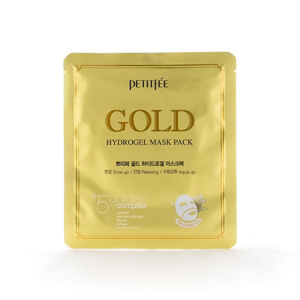 Гидрогелевая маска для лица с золотом, 32 гр, PETITFEE фото
