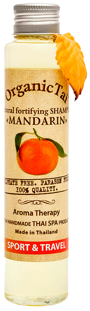 Натуральный укрепляющий шампунь для волос «МАНДАРИН», 100 мл,OrganicTai фото