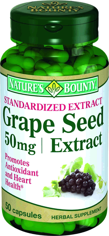 Купить со скидкой Экстракт виноградных косточек, 50 мг, 50 капсул,  Nature's Bounty