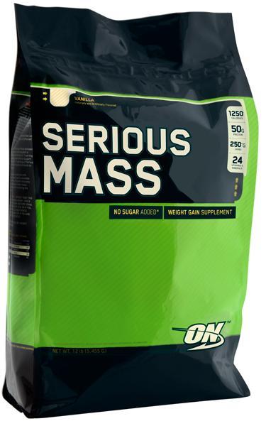 Гейнер Serious Mass, вкус ваниль,  5455 гр, Optimum Nutrition