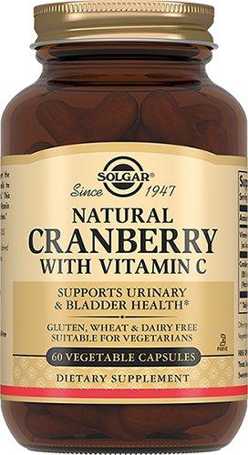 Натуральная клюква с витамином С, 60 капсул,  Solgar