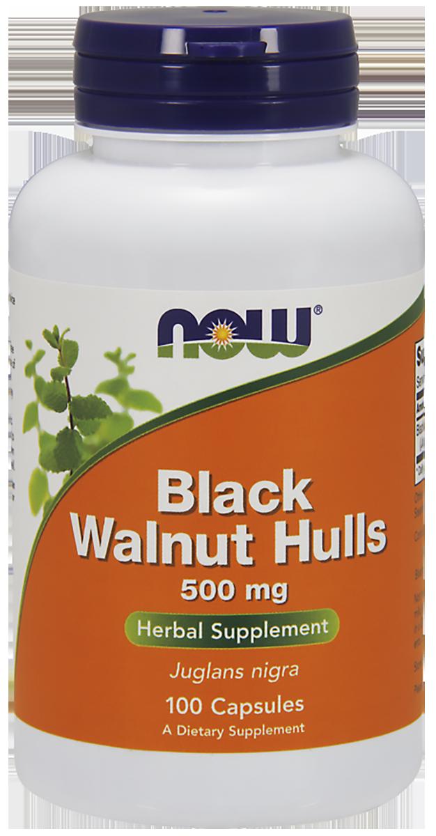 Черный орех, 500 мг, 100 капсул, NOW