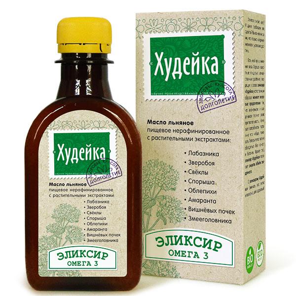 Масло льняное «Худейка», 200 мл, Компас Здоровья фото