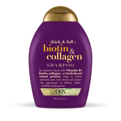 Шампунь для лишенных объема и тонких волос с биотином и коллагеном, 385 мл, OGX фото