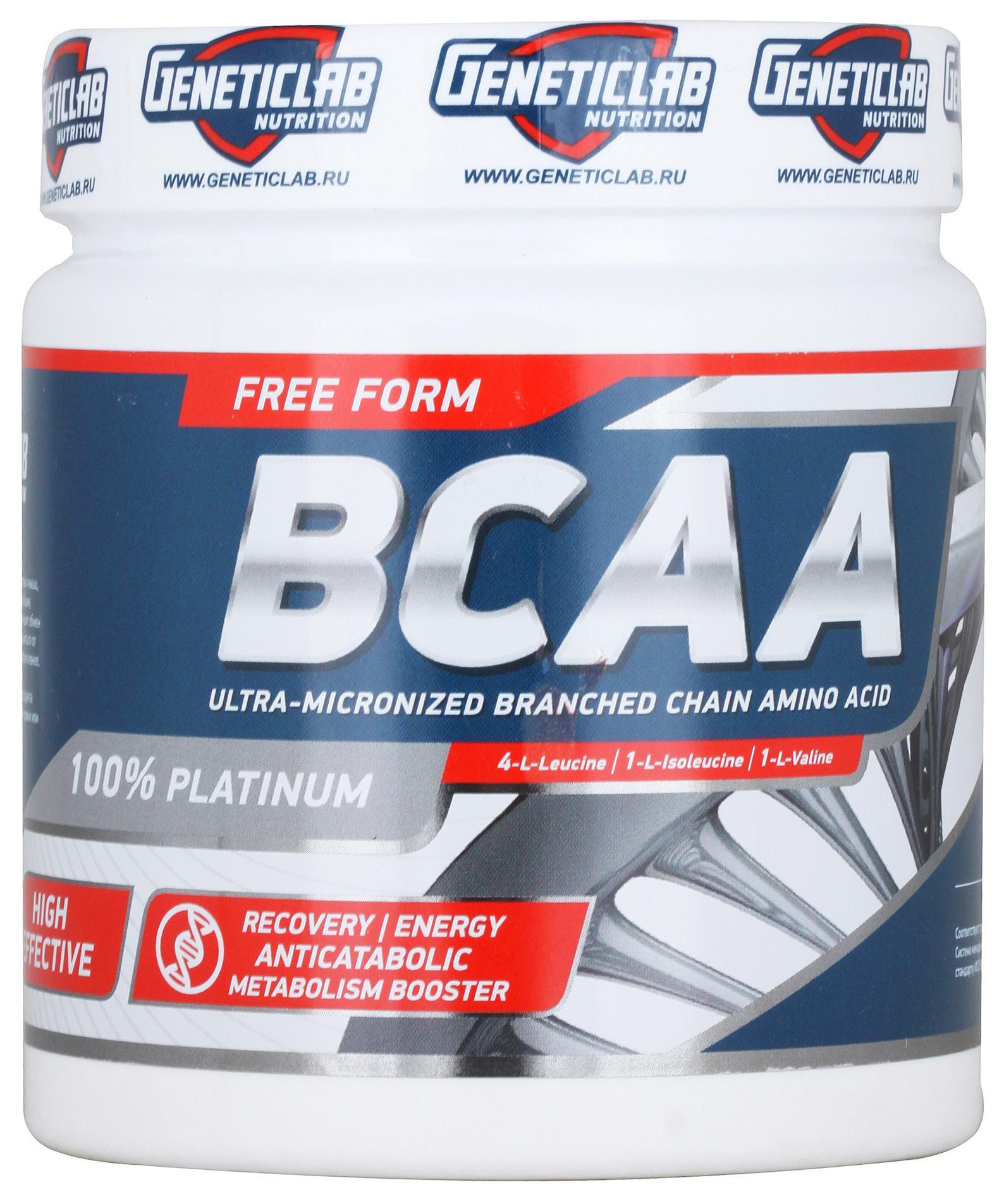 BCAA powder, без вкуса, 200 гр, Geneticlab
