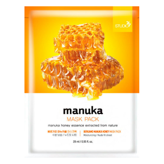 Тканевая маска для лица с экстрактом меда манука, 28 мл, BERGAMO фото