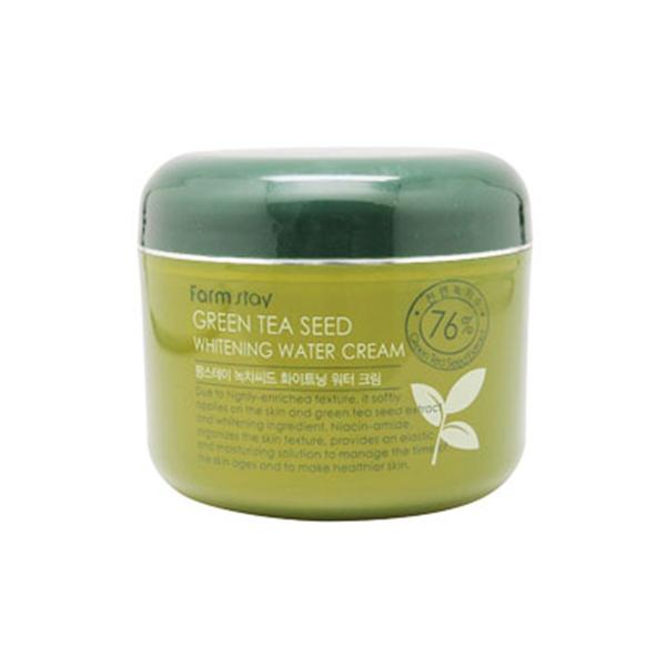 Увлажняющий осветляющий крем с семенами зеленого чая, 100 гр, FarmStay фото