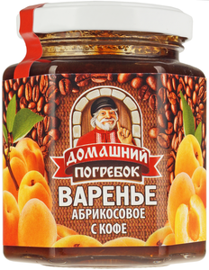 Варенье абрикосовое с кофе, 240 гр, Домашний погребок фото
