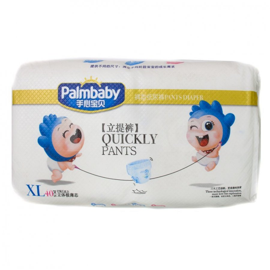 Подгузники-трусики детские «Ультратонкие», XL, 12+ кг, 40 шт, Palmbaby фото