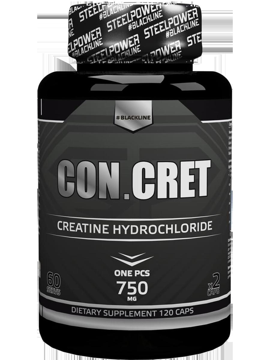 Креатин CON.CRET, 120 капсул, натуральный вкус, STEELPOWER