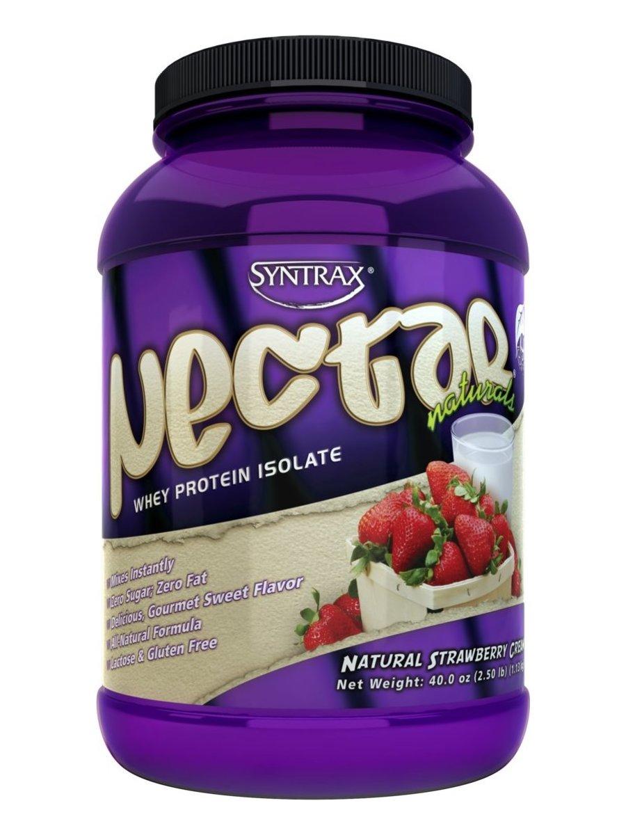 Сывороточный протеин Nectar Natural, вкус «Клубника со сливками», 900 гр, SYNTRAX фото