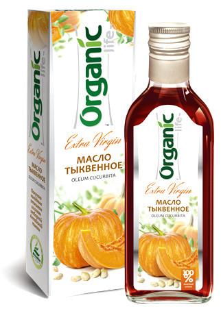 Масло пищевое нерафинированное тыквенное, 250 мл, Organic Life