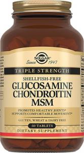 Комплекс Solgar с хондроитином и глюкозамином для суставов