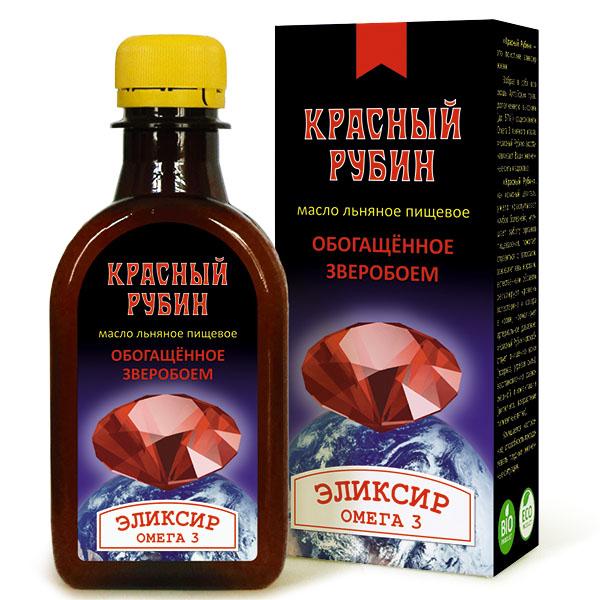 Масло льняное «Красный Рубин», 200 мл, Компас