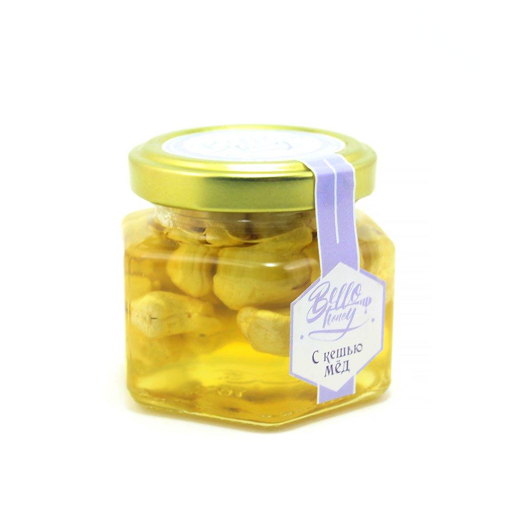 Кешью в меду, 120 мл, BelloHoney фото