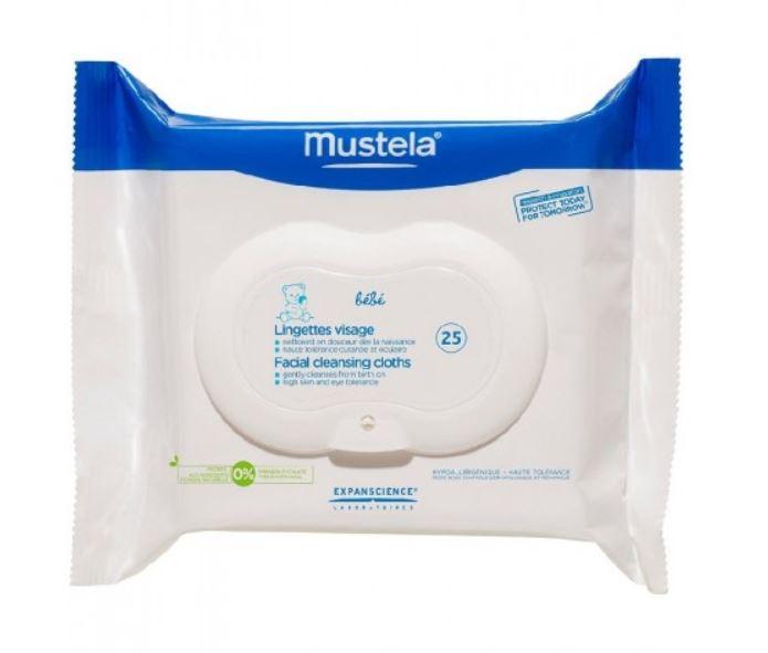 Детские очищающие салфетки для лица, 25 шт, Mustela фото