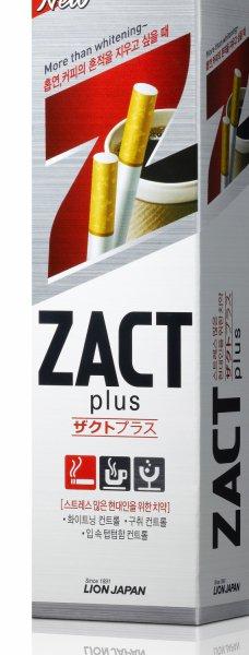 Зубная паста Zact с эффектом отбеливания кофейного и никотинового налета,150 гр, CJ Lion фото