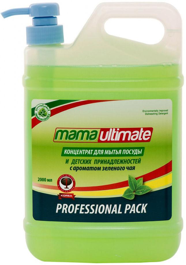 Антибактериальный концентрат для мытья посуды «Зеленый чай», 2 л, Mama Ultimate фото