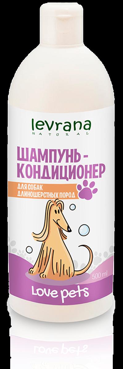 Шампунь-кондиционер для собак длинношерстных пород, Love Pets, 500 мл, Levrana фото