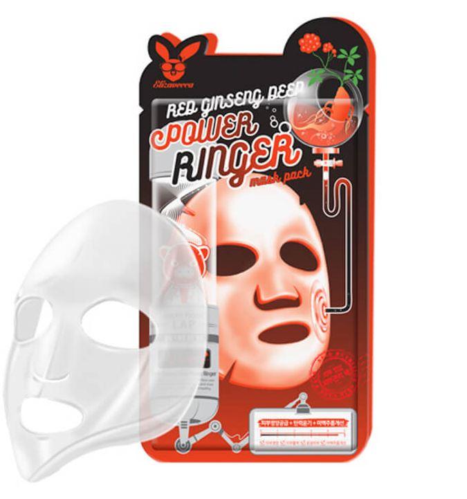Маска для лица с женьшенем Red ginseng deep power ringer mask pack, 23 гр (10), Elizavecca фото