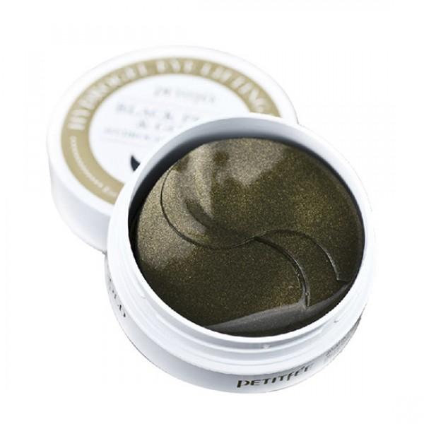 Патчи для глаз c черным жемчугом и золотом, 60 шт, PETITFEE фото