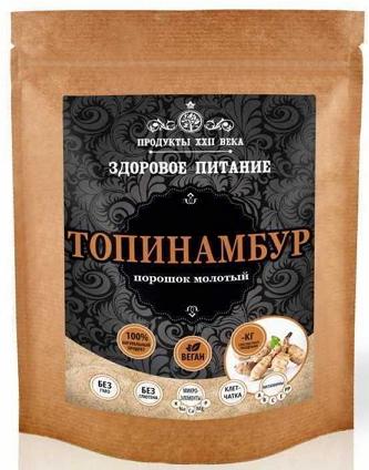Топинамбур, порошок молотый, фракция до 1,5 мм, 200 гр, Продукты XXII века фото