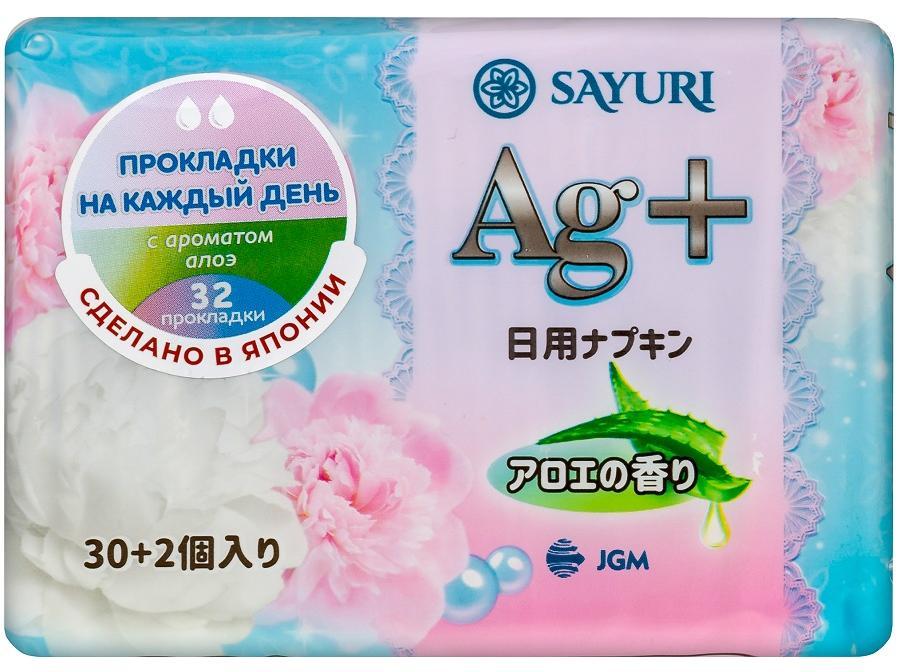 Ежедневные гигиенические прокладки с аром. алоэ Argentum+,