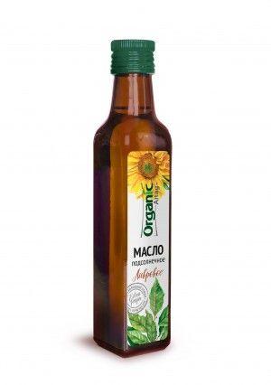 Масло пищевое нерафинированное подсолнечное лавровое, 250 мл, Organic Life