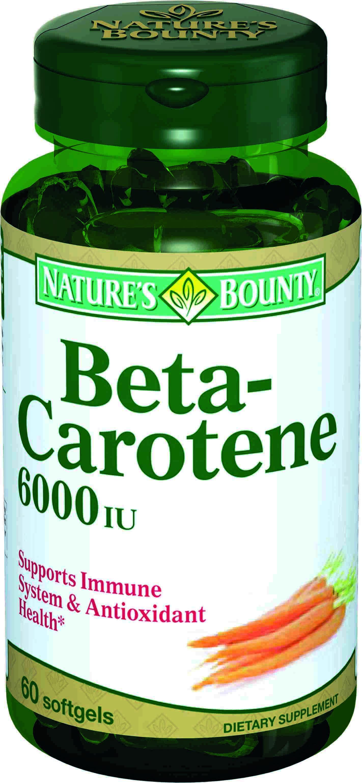 Бета-каротин 600 ме, 60 капсул, Nature's Bounty фото