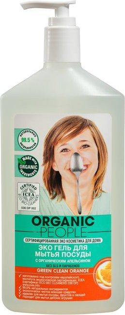 Купить со скидкой Гель для мытья посуды Green clean orange, 500 мл, Organic  People
