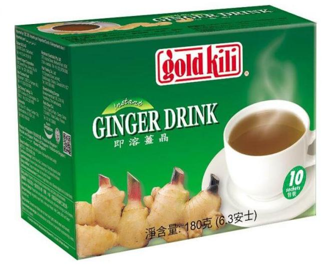 Имбирный напиток с мёдом, быстрорастворимый, коробка, 180 гр, Gold Kili фото