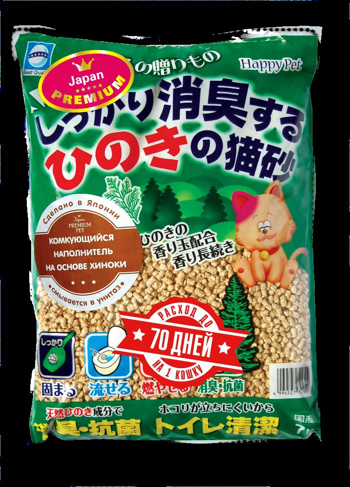 Наполнитель древесный с хиноки, Japan Premium Pet фото
