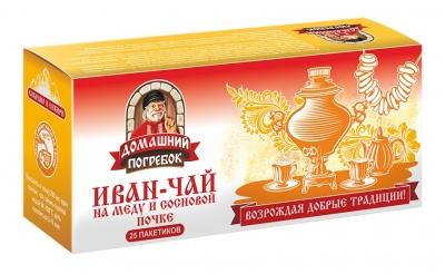 Иван-чай на меду и сосновой почке, 25 пакетиков, Домашний погребок фото